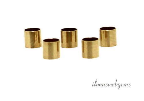 14k / 20 Gold filled tube beads approx. 3x3mm