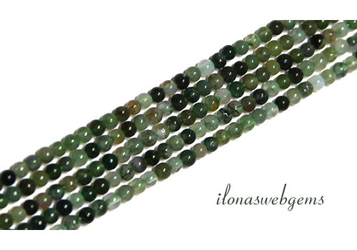 Moss agate beads around mini about 2mm