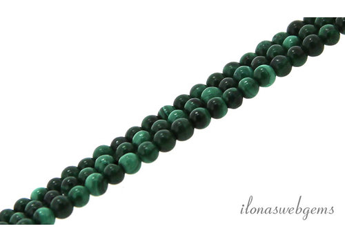 Malachite beads dark round mini about 2.5mm