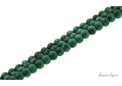 Malachite beads light round mini about 2.5mm