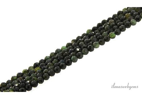 Green Tourmaline beads faceted around 4mm AA cut