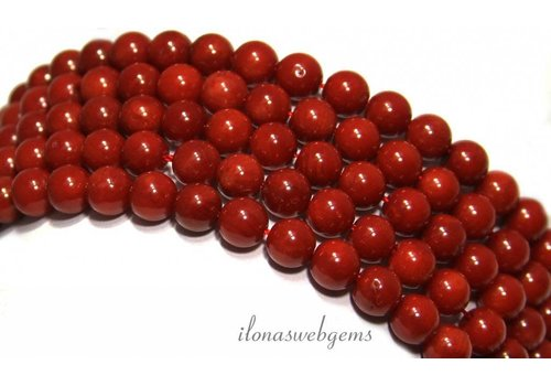 Red coral beads around 6mm