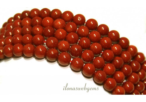 Coral beads red 'old Dutch' around 6mm