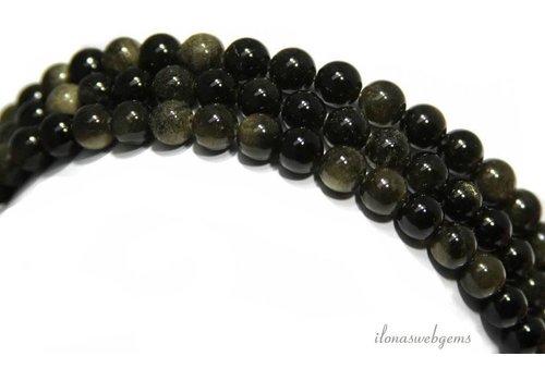 Golden Obsidian beads around 12mm