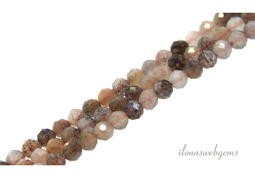 Moonstone beads faceted around 4mm AA quality cut
