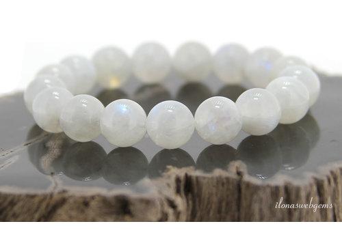 Rainbow moonstone beads around 12mm bracelet