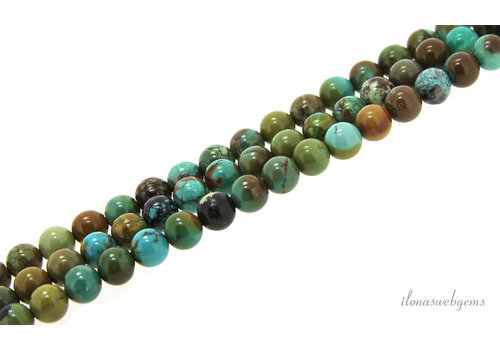Turquoise beads around 6.5mm AA quality