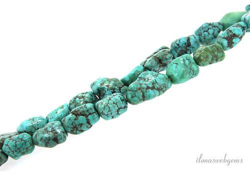 Turquoise beads large nugget about 12 to 30mm