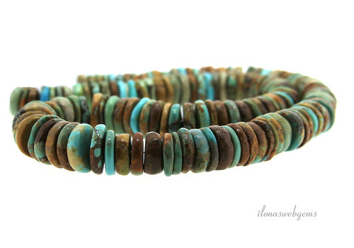 Arizona Turquoise beaded discs
