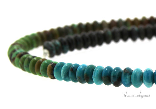 Turquoise beads roundel approx. 6x3mm (1)