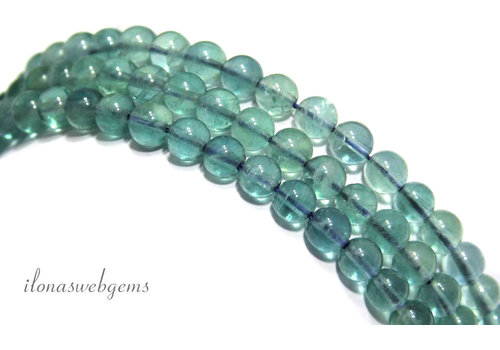Fluorite beads around 6mm A quality