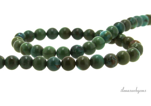 Turquoise beads around 6.5mm A quality