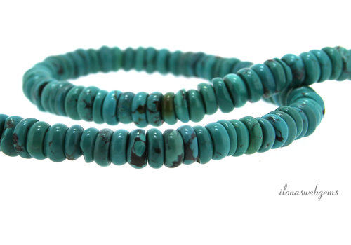 Turquoise beads roundel approx. 8x2-5mm (3)