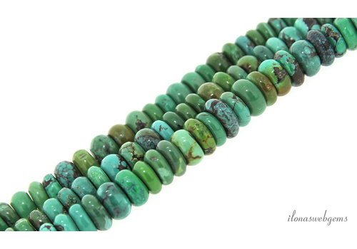 Turquoise beads roundel about 11x4-6mm