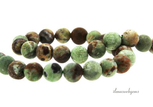 Groene Opaal kralen mat rond ca. 8mm