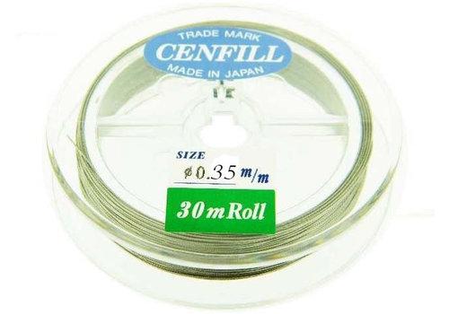 1 meter Cenfill RVS gecoat rijgdraad 0.35mm (19 draads)