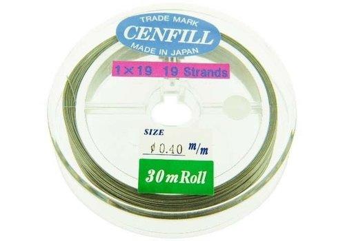 1 meter Cenfill RVS gecoat rijgdraad 0.40mm (19 draads)