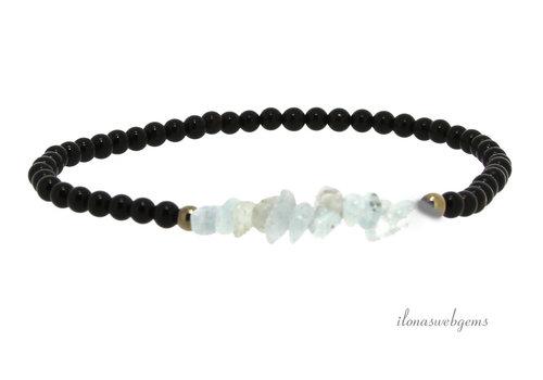 1 x Onyx met Hematiet en Maansteen armbandje en 1 x Onyx armbandje met Hematiet en Aquamatijn twv. € 22,90