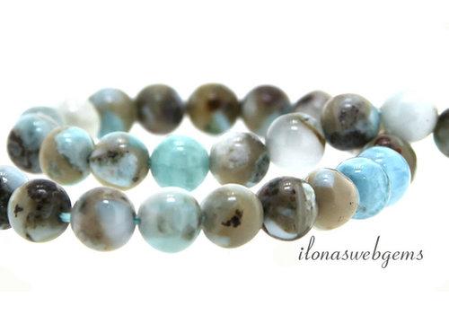Larimar beads around 8.5mm