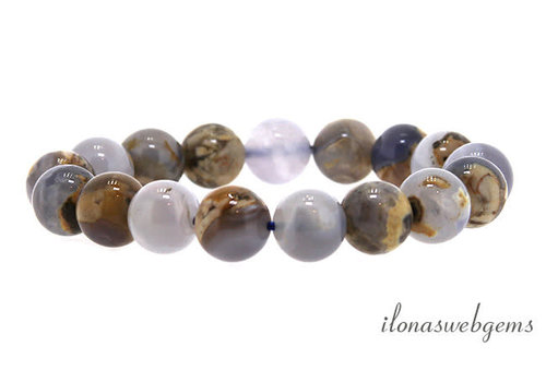 Skin on blue Chalcedony beads about 12mm