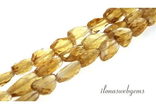 Citrine beads free shape about 12x8x6mm