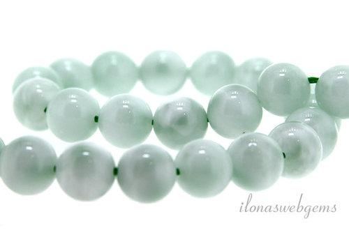 Green Angelite beads around 8mm