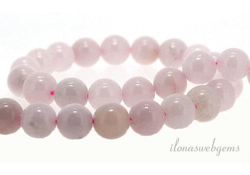 Pink calcite beads around 8mm