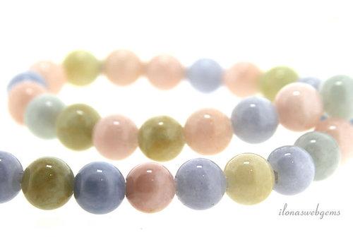 Morganite beads around 8mm - with 2mm hole