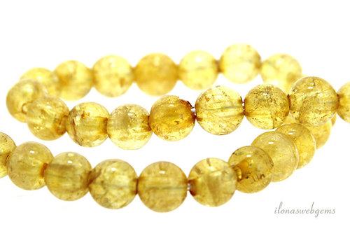 Citrine beads around 8mm - with 2mm hole
