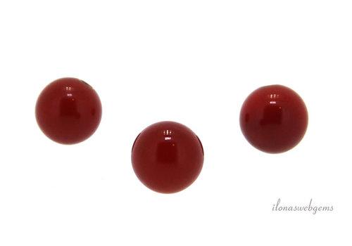 1x Carnelian bead round 5mm - half pierced