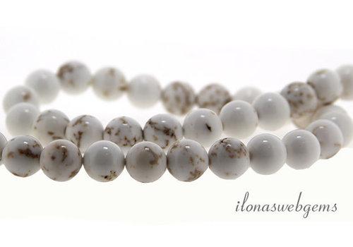 Howlite white beads around 8mm