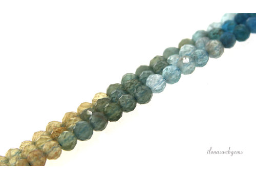 Apatite beads faceted around 3mm