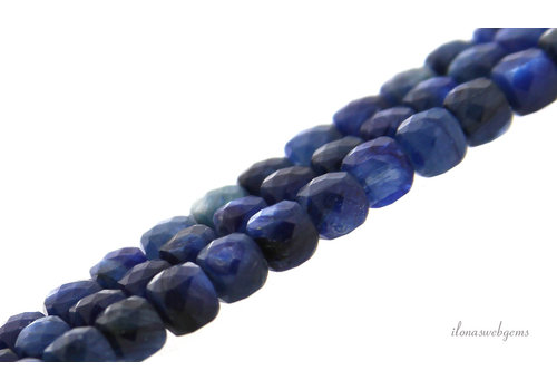 Kyanite beads faceted cube about 4x4mm
