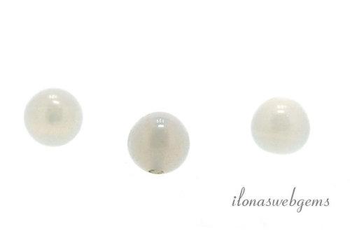 1x Opaliet kraal rond 4mm - half doorboord