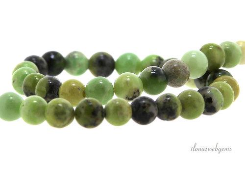Australian Jade beads round approx. 6,5 mm