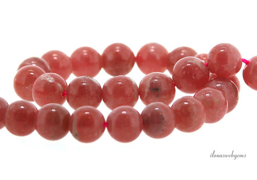 Rhodochrosite beads round approx. 8mm A quality