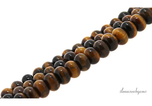 Tiger eye beads roundel about 6.5x4.5mm