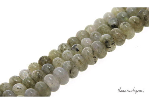 Labradorite beads roundel about 6.5x4.5mm