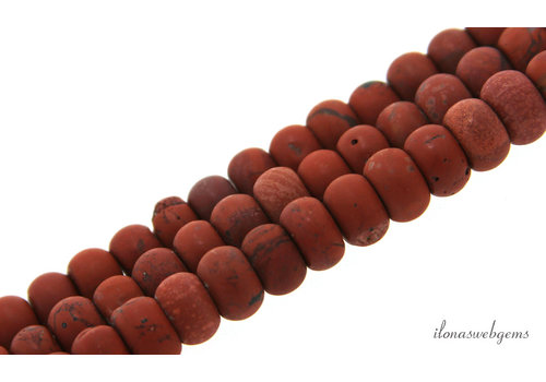 Red Jasper beads roundel about 6.5x4.5mm