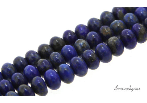 Lapis beads roundel about 6.5x4.5mm