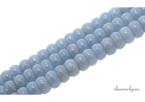 Angelite beads roundel about 5.5x4mm
