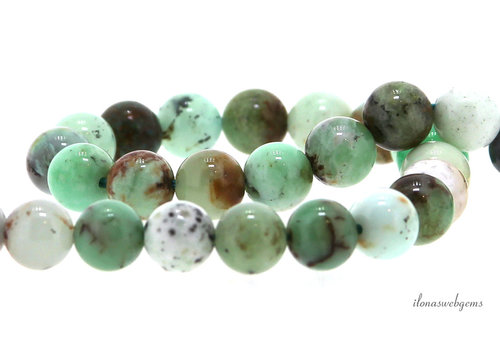 Chrysoprase beads round about 8mm