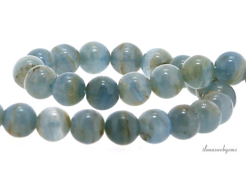 Aragonite beads round about 8mm