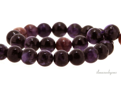 Charoite beads round about 8mm