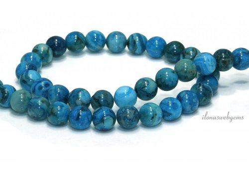 Blue crazy agate beads around 6mm