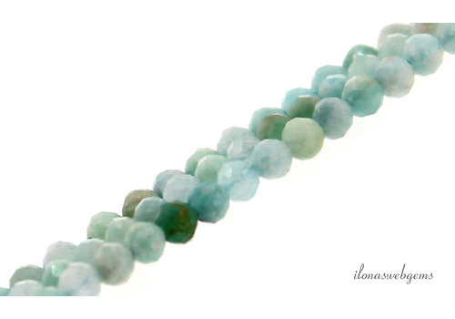 Amazonite beads faceted about 4mm