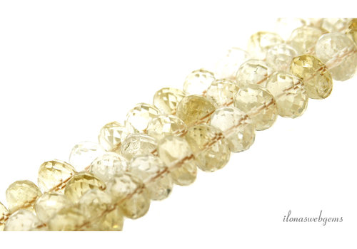 Citrine beads faceted roundel around 11x7mm