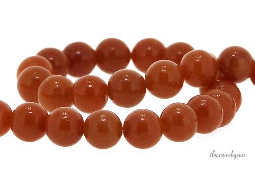 Orange Aventurien beads round about 8mm