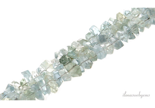 Aquamarine beads faceted about 8x3mm