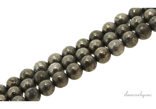 Pyrite beads round about 6mm